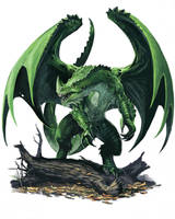 Young Green Dragon by BenWootten