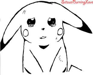 Sad Pikachu by Setsuaiburninglove