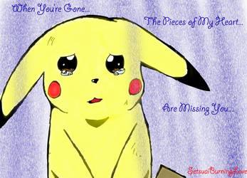 Teary Pikachu by Setsuaiburninglove