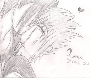 Clack- First Kiss Sketch by Setsuaiburninglove