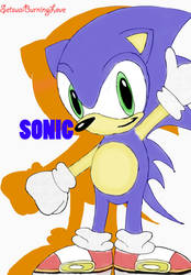 Sonic Chibi for Desk05 by Setsuaiburninglove