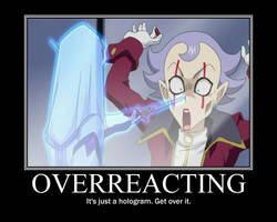 OVERREACTING Poster 8 by 3m0k1tty
