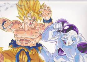 Goku vs Frieza by major-goku