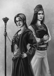 Khelbara and Lajella by ElifSiebenpfeiffer