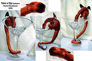 Take a Sip - Sculpture by tigeress66
