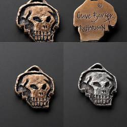 Clive Barker Skull Medallion by DaveRichardsonArt