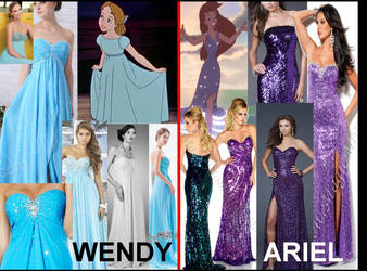 Wendy and Ariel Inspired Dresses by gaoithecos