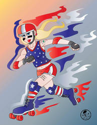 All-American Derby Girl  by Gpapanto
