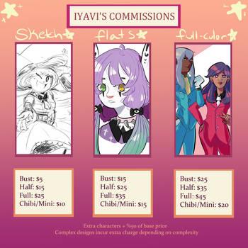 * Commissions * by iyavi