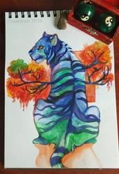 Blue Stripes by Juleteon