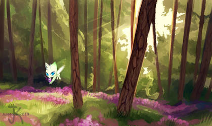 The forest fairy Celebi! by Juleteon