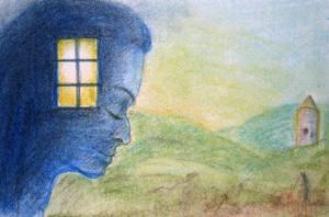 window in head by bluemacgirl