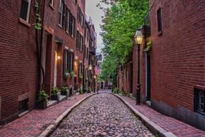 Acorn Street In Boston by jjcpix