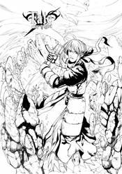 Saber FateStayNight by Kei-san