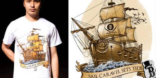 SAIL CARAVEL SETS TIDE by bazzier
