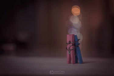 Clothespin in love by aleexdee