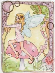 Toadstool Fairy by dum-donutz