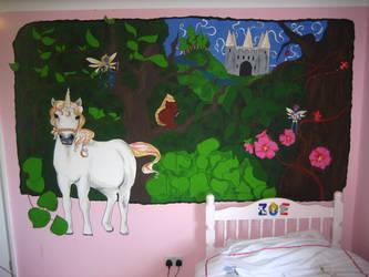 Fairytale Mural by dum-donutz