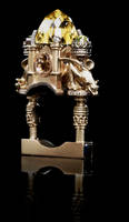 18ct Gold Cathedral Ring by w-l-g