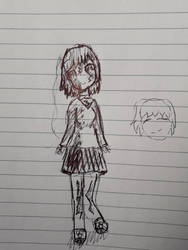 Zombie girl (ignore the crappy doodle on the side) by SkylarTheAngel