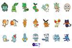 Goofy Pokemon Starter Set by glowinggalaxy