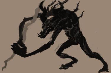 Barbed monster (wip) by Crowflux
