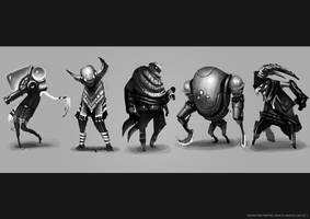 Characters 1 by funkychinaman