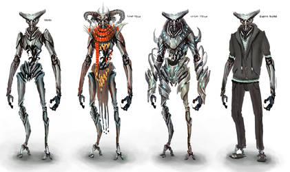 Insectoid Humanoid by funkychinaman