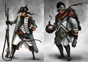 Fusilier and Grenadier by funkychinaman