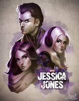 Jessica Jones Poster by AmandaDuarte
