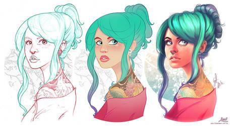 The Girl with the Phoenix Tattoo - Steps by AmandaDuarte