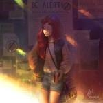 Alien : collab with Gabriel Picolo by AmandaDuarte