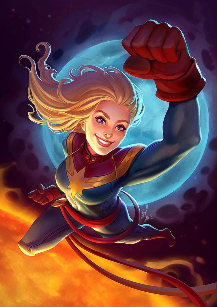 Captain Marvel by AmandaDuarte