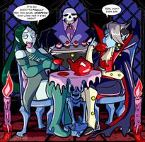 Art Trade with TheArgoNinja: Yadei and Nosfera by MichaelJLarson