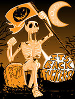 Drawlloween 2017 Oct 1 - Return From The Dead by MichaelJLarson