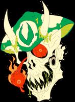 The Skull of Varg Skelethor by MichaelJLarson