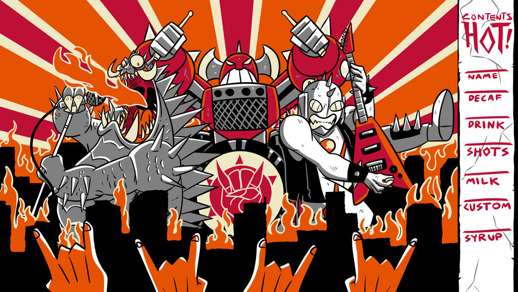 Coffee Cup Design - Heavy Metal Kaiju by MichaelJLarson