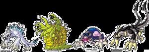 Toonstarfreak Commission - Monster Designs by MichaelJLarson