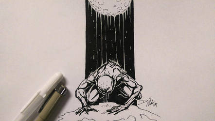 Born of the Night: Inktober Day 24 by David-the-North
