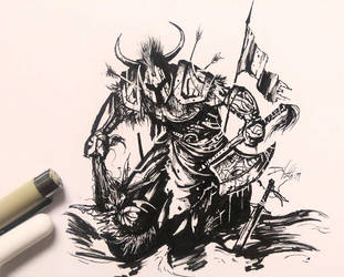 The Last Standing: Inktober Day 30 by David-the-North