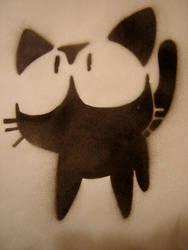 Kitty Stencil by tinaubuggin