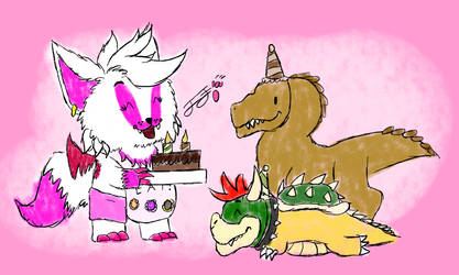 Happy Birthday Mr.Raptor and Bowser! by Sypro123a