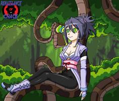 Kaa and Sheena (again) by Hypno-Roxa