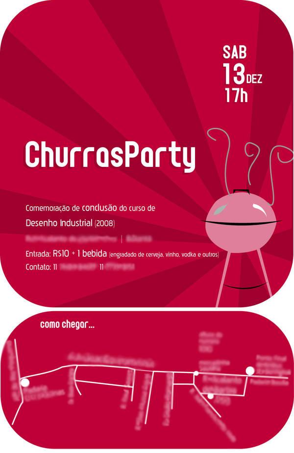 Convite Churrasco Formatura By Fabecris On Deviantart