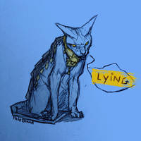The Lying Cat by PaleBlank