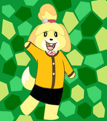 Isabelle from AC by PlayTheFox
