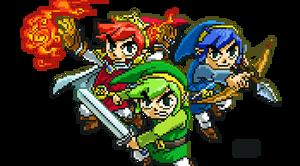 Triforce Heroes (Zelda) by RollToNotDie
