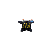 Apprentice's Workshop - Anvil and Candles Logo by RollToNotDie