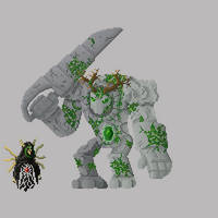 Moss-covered Stone Golem by RollToNotDie