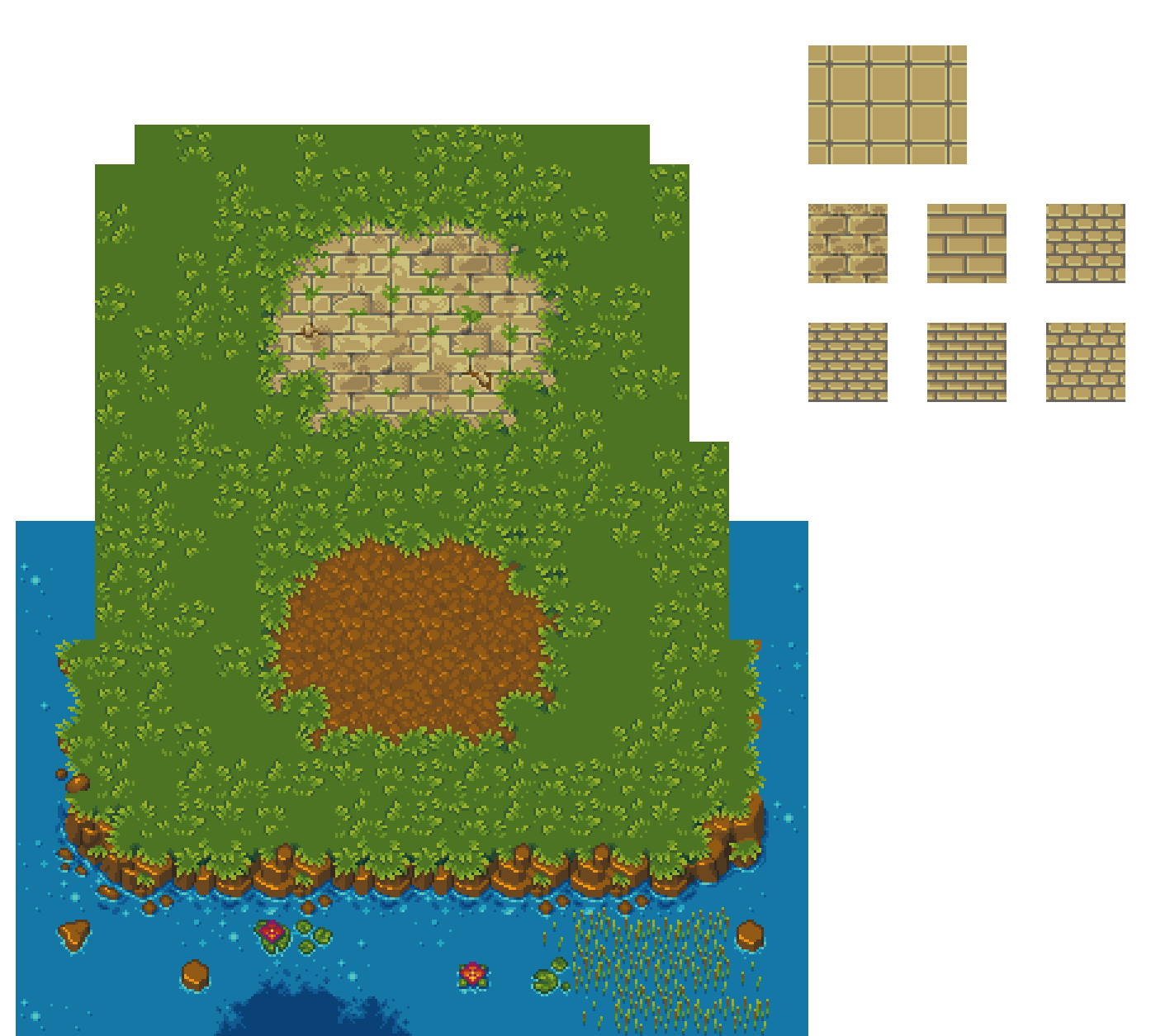 Town Exterior Tiles #5 - WIP by RollToNotDie